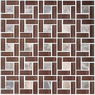12 in. x 12 in. Glass/Stone Blend Mosaic Tile - 8mm Thickness (HX-002)