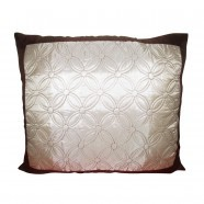 Silver Embroidered Decorative Throw Pillow Cover, Without Insert (DK-LJ019)