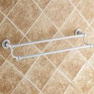 Double Towel Bar 24 Inch - White Painting Brass (80348D)