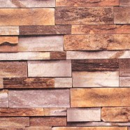 Stonewall Wallpaper / Rustic Stones PVC Room Wall Decoration (DK-SE454001)