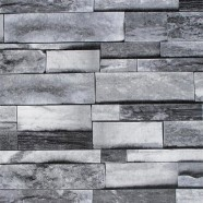 Stonewall Wallpaper / Rustic Stones PVC Room Wall Decoration (DK-SE454002)