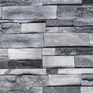 Stonewall Wallpaper / Rustic Stones PVC Room Wall Decoration (DK-SE454002)