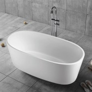 63 In Freestanding Bathtub - Acrylic Pure White (DK-PW-16678)