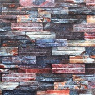 Stonewall Wallpaper / Rustic Stones PVC Room Wall Decoration (57 sq.ft/Roll) (DK-SE455001)
