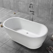 59 In Freestanding Bathtub - Acrylic White (DK-YU-17572)