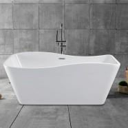 59 In Freestanding Bathtub - Acrylic White (DK-YU-25572)