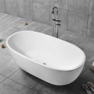 59 In Freestanding Bathtub - Acrylic White (DK-YU-29572)