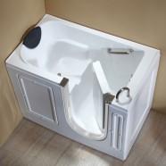 51 x 30 In Walk-in Soaking Bathtub - Acrylic White with Right Drain (DK-Q380-R)