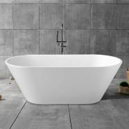 62 In Freestanding Bathtub - Acrylic White (DK-YU-5672)