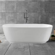 59 In Freestanding Bathtub - Acrylic White (DK-YU-5957)
