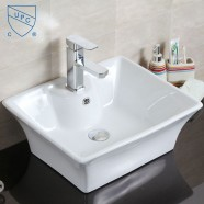Decoraport White Rectangle Ceramic Above Counter Basin (CL-1097)