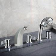 Decoraport 5 pieces Brass Bathtub Faucet (YDL-2508A)