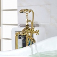 Classic Style Freestanding Tub Faucet - Gold Plated Brass (Y009A2)