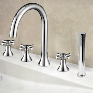 Decoraport 5 pieces Brass Bathtub Faucet (YDL-2506A)