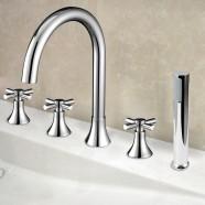 Decoraport 5 pieces Brass Bathtub Faucet (YDL-2506A)