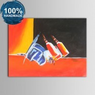 100% Hand Painted Abstract Still-Life Oil Painting on Canvas (DK-JX-YH013)