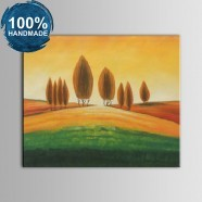 100% Hand Painted Abstract Landscape Oil Painting on Canvas (DK-JX-YH049)