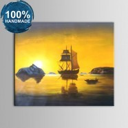 100% Hand Painted Abstract Landscape Oil Painting on Canvas (DK-JX-YH048)