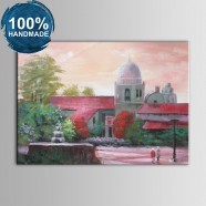 100% Hand Painted Abstract Manor Oil Painting on Canvas (DK-JX-YH046)