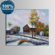 100% Hand Painted Abstract Farmhouse Oil Painting on Canvas (DK-JX-YH043)