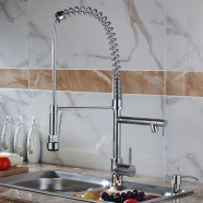 Kitchen Faucet - Brass with Chrome Finish (82H03-CHR)