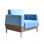 1 Seater/Fabric Lounge Chair Reception Guest Seating (SF-503-1)