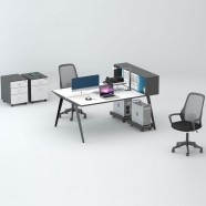 2 Persons Office Workstation - 2 Optional Colors (WM14-15W)