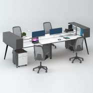 4 Persons Office Workstation - 2 Optional Colors (WM15-30W)