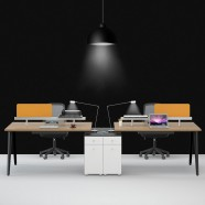 2 Persons Office Workstation - 2 Optional Colors (WM21-12W)