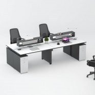 4 Persons Office Workstation - 2 Optional Colors (WM22-24W)