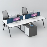 4 Persons Office Workstation - 2 Optional Colors (WM53-24W)
