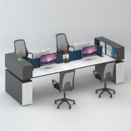 4 Persons Office Workstation - 2 Optional Colors (WM32-30W)
