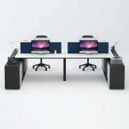 4 Persons Office Workstation - 2 Optional Colors (WM52-24W)