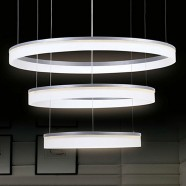 Metal and Acrylic Built Modern LED Chandelier/32'' Wide with 3 Lights and 3 Tiers (9029/S+M+L)