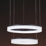 Metal and Acrylic Built Modern LED Chandelier/32'' Wide with 2 Lights and 2 Tiers (9029/M+L)