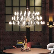 Iron and Acrylic Built Modern LED Chandelier/41'' Wide with 54 Lights and 3 Tiers (9157P/L)