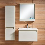 31 In. Wall Mount Bathroom Vanity Set with Mirror and Side Cabinet (DK-657800)