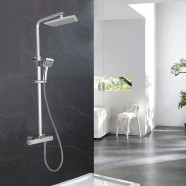 Rain Shower Head - Brass with Chrome Finish (DK-YDL9114)