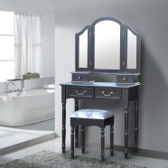 Bedroom Makeup Vanity Set with Mirror and Stool (JI13009)