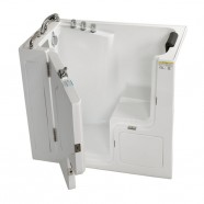 52 x 30 In Walk-in Soaking Bathtub - Acrylic White with Left Drain (DK-Q358)