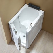 40 x 28 In Walk-in Soaking Bathtub - Acrylic White with Left Drain (DK-Q376-L)