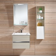 24 In. Wall Mounted Bathroom Vanity Set with Single Sink and Mirror and Cabinet (DK-605600)