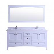 72 In. Freestanding Bathroom Vanity Set with Mirror and Double Sinks (DK-T9310-72)