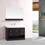 48 In. Freestanding Bathroom Vanity Set with Single Sink and Mirror (DK-T9127-48E)