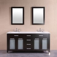 60 In. Freestanding Bathroom Vanity Set with Double Mirrors and Sinks (DK-T9197-60)