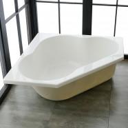 47 In Triangle Drop-in Bathtub - Acrylic White (DK-REALMCB)
