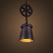 Ceramic Built Black Vintage Pendant Light (DK-2048-D1B)