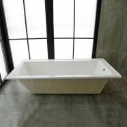 59 In Drop-in Bathtub - Acrylic White (DK-2002-1500R-ET)