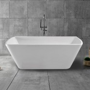 59 In Freestanding Bathtub - Acrylic White (DK-YU-27572)