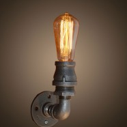 Iron Built Rust Vintage Pipe Wall Sconce (DK-6105-B1)